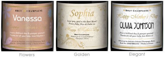 Personalised Champagne – Mothers Day