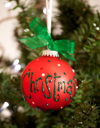 Personalised Christmas Bauble - Red