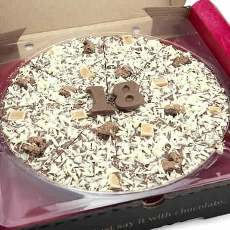 18th Birthday Chocolate Pizza - 10''