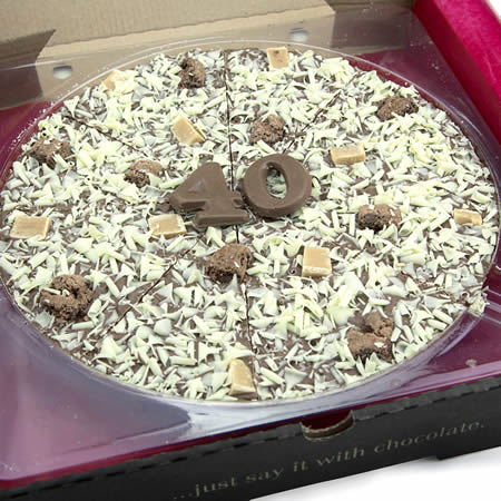 40th Birthday Chocolate Pizza - 10''