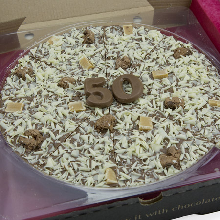 Home Page Gifts For Her Chocolate Gifts Chocolate Pizzas 50th Birthday ...