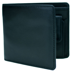 Mustard Black Leather Coin Wallet product image